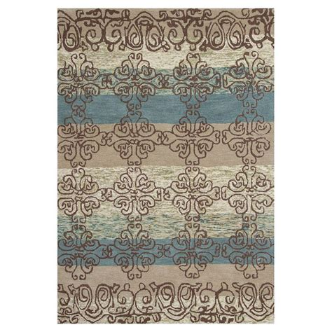 Connection Rugs by Kas Rugs Connection Beige Blue 5 Ft X 8 Ft Area