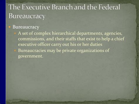 chapter 15 section 1 the federal bureaucracy ppt chapter 15 bureaucracy powerpoint presentation id