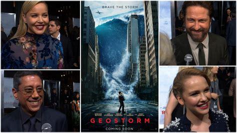 film geostorm cast premiere interviews geostorm gerard butler abbie