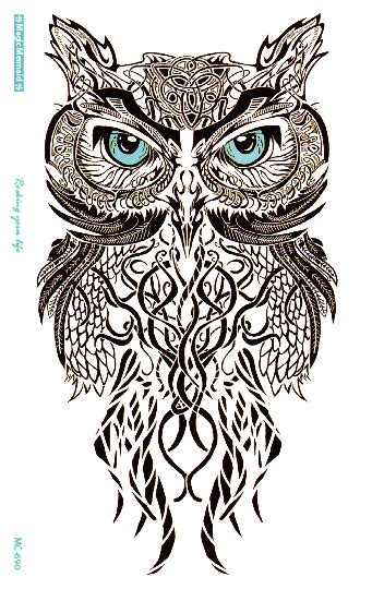 Mc690 19x12cm Hd Large Tato Stiker Gray Draw Owl buy wholesale owl drawing from china owl drawing