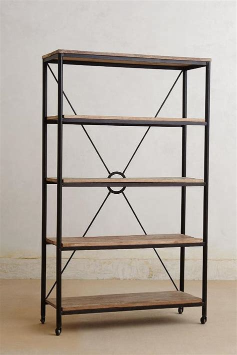 distressed utility bookcase i anthropologie