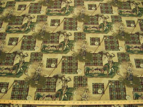 golf upholstery fabric classic golf golfer tapestry upholstery fabric ft910 ebay