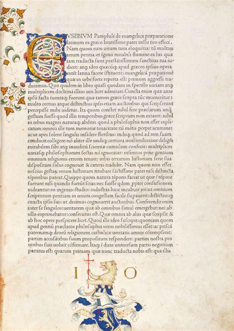 letters to numbers de evangelica praeparatione 1470