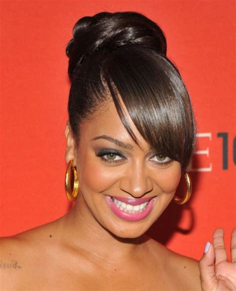 pictures of bun with bangs hairstyles for black women 36 la la anthony hairstyles la la anthony hair pictures