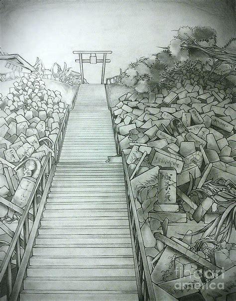 graveyard drawing by chiaki hagiwara