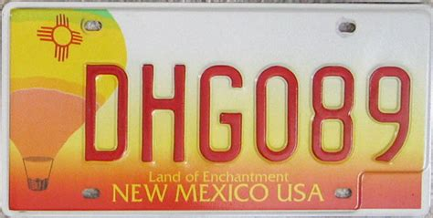New Mexico Vanity Plates by Best State License Plate Living Shop