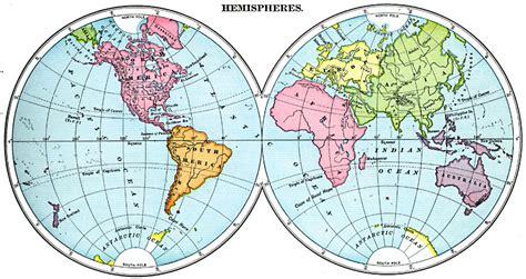 map world eastern western hemisphere east west world hemispheres