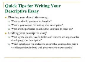 How To Write Descriptive Essay About A Person by Occupational Therapy Section Materials