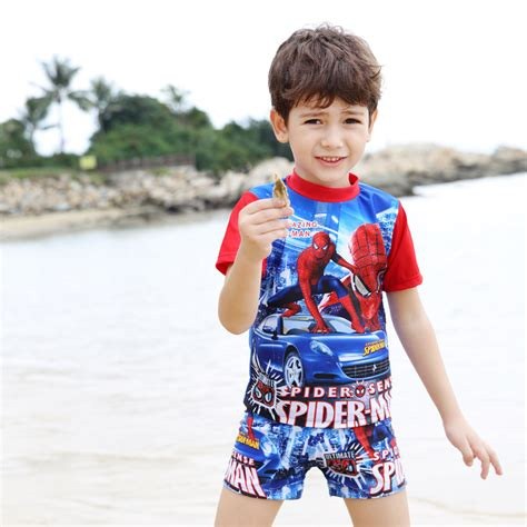 baby boy swimsuit two pieces swimwear boy spider swimsuit