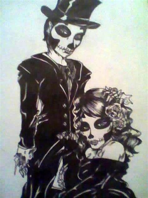 day of the dead couple tattoo day of the dead s ideas
