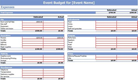 conference budget template 9 event budget templates word excel pdf formats