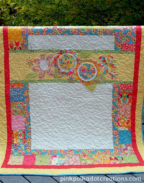 Pink Polka Dot Quilt by Floral Quilt Pink Polka Dot Creations