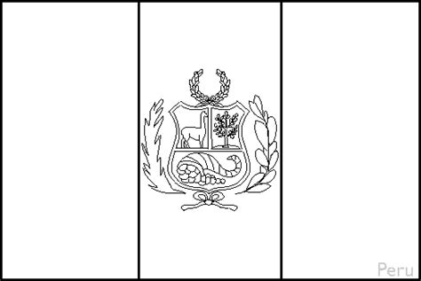 Flag Of Peru Coloring Page peru flag coloring pages