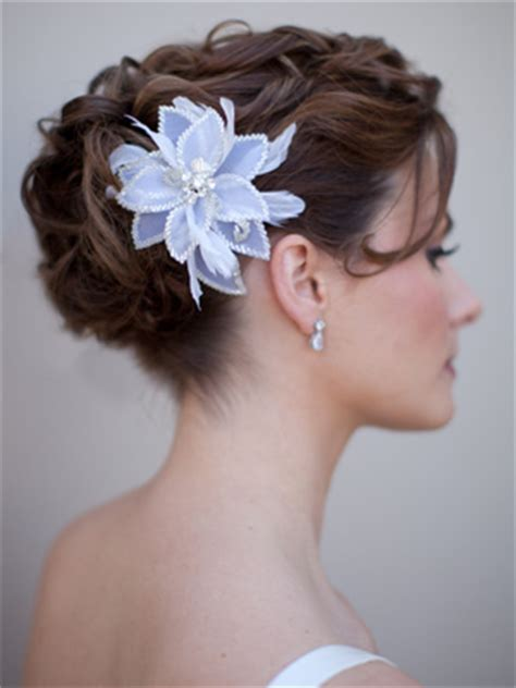 Wedding Updos With Flowers In Hair by Bridal Hair Flowers Flower Hair Accessories Bridal