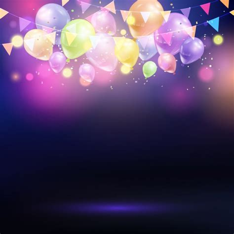 Flag Lights by Celebration Background With Balloons And Bunting Vector