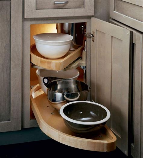 Kitchen Cabinet Blind Corner Solutions Base Blind Corner W Wood Lazy Susan Go Go Gadgets And Just The Coo