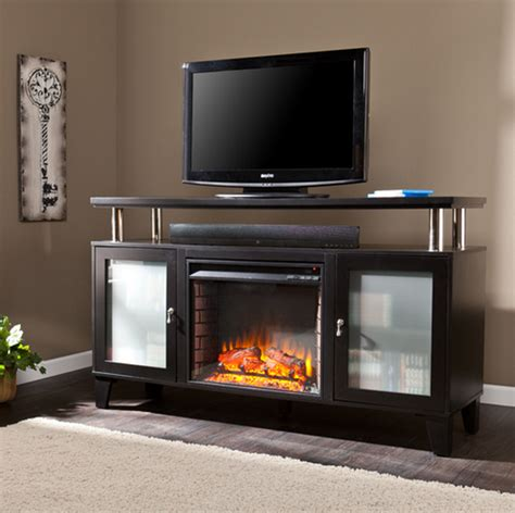 60 Media Fireplace by 60 Quot Cabrini Black Electric Media Fireplace Fe9348 Fi9348