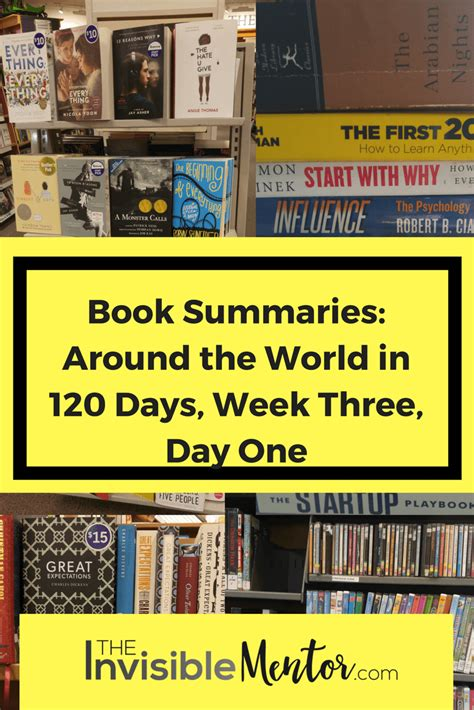 The Three Day Novel by Book Summaries Around The World In 120 Days Week Three