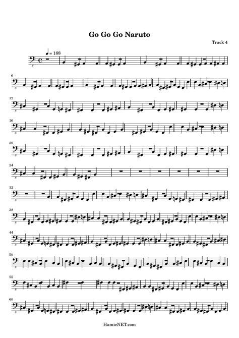 naruto themes lyrics go go go naruto sheet music go go go naruto score