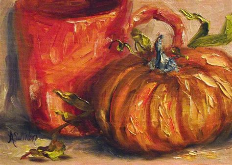 pumpkin paintings through the of an artist that time of year a pumpkin