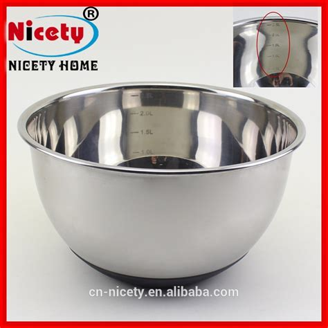 Stainless Bowl Mangkok Stainless 22cm Vavinci wholesale 22cm stainless steel big mixing bowl set with silicon bottom and tick alibaba