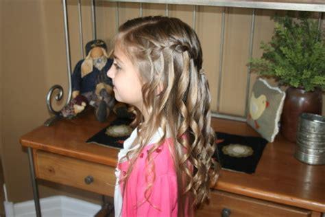 spiral curls waterfall braid cute girls hairstyles waterfall braid with spiral curls cute hairstyles cute