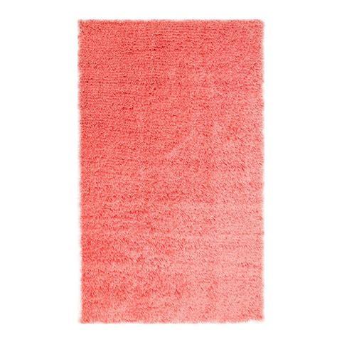 microfiber shag rug chesapeake merchandising microfiber shag coral 7 ft 3 in x 9 ft 3 in area rug 79215 the