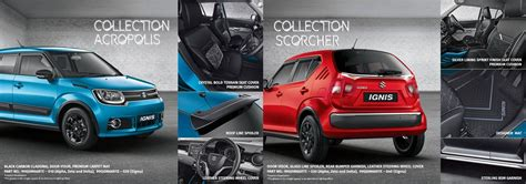 Suzuki Ignis List Cover Grill Depan Jsl Front Grille Cover Chrome maruti ignis nexa optional accessories unveiled make your