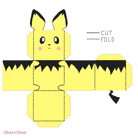 Pichu Papercraft - pichu paper craft by charrchan on deviantart