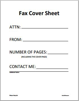fax cover sheet templates excel  formats