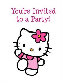 kitty free printable birthday party invitation personalized party invites