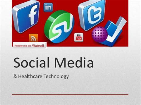 healthcare and social media social media healthcare technology