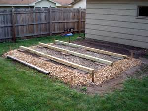 shed foundation plans how to build diy by