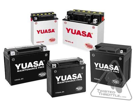 Batterie Motorrad by Yuasa Motorcycle Batteries Twistedthrottle Ca