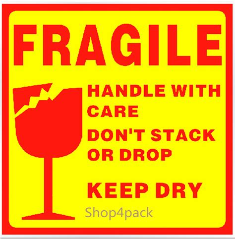 Stiker Fragile Berkualitas 1 50 warning fragile sticker 10cm x 1 end 7 19 2019 11 05 am
