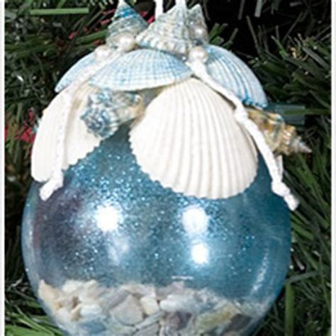 sparkly sea shell ornament favecrafts com