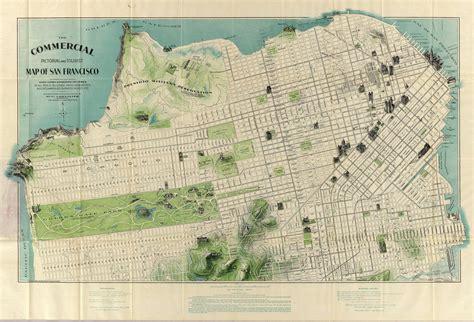 san francisco map paper vintage antique san francisco california bay map print on