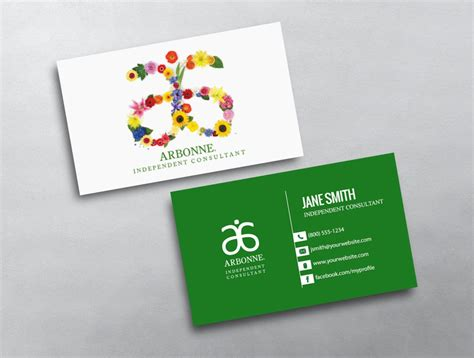 free arbonne business card template arbonne business card 05