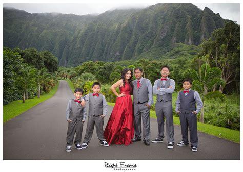 ho omaluhia botanical gardens honolulu family photographer by right frame