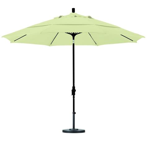 White Patio Umbrella California Umbrella 11 Ft Fiberglass Collar Tilt Vented Patio Umbrella In White Olefin