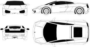 Lamborghini Aventador Blueprint Lamborghini Gallardo Blueprint Car Templates