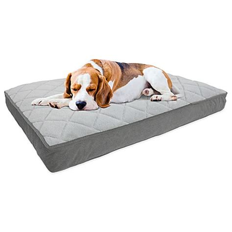 bed bath and beyond dog bed buy therapedic 174 memory foam pet bed in charcoal from bed