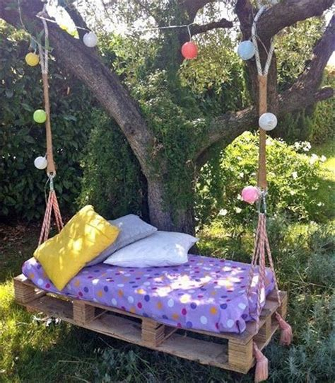 pallet swing set wooden pallet swing bed ideas recycled things