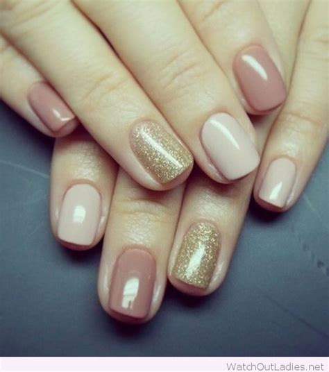 easy nail art gold simple nude and gold nail design inspiration fall