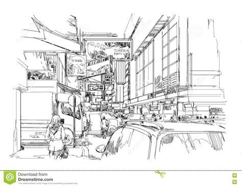 libro street sketchbook street graphics hand drawn sketch of modern cityscape urban city street stock illustration illustration of