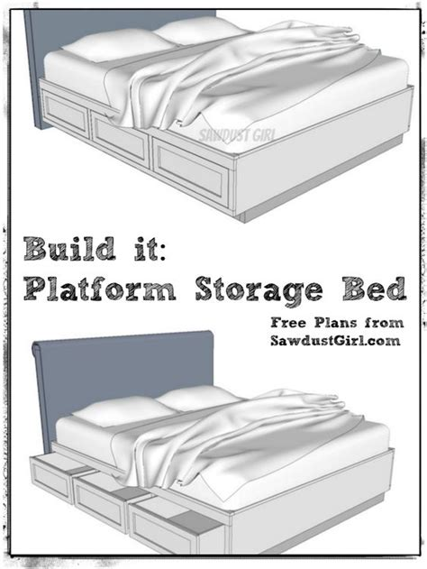 free plans to build a cal king platform storage bed feelin crafty pinterest night stands