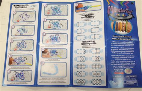 Rainbow Loom Monster Tail! | ABC & Toy Zone Rainbow Loom Instruction Manual Patterns