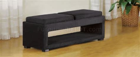 modern bench with storage black or cream microfiber fabric modern cancun storage bench