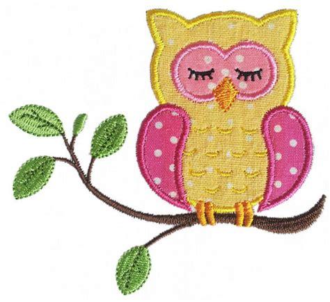 owl embroidery design applique instant download sleep owl applique machine embroidery design