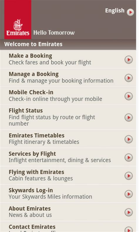 emirates online check in fly emirates mobile free android app android freeware